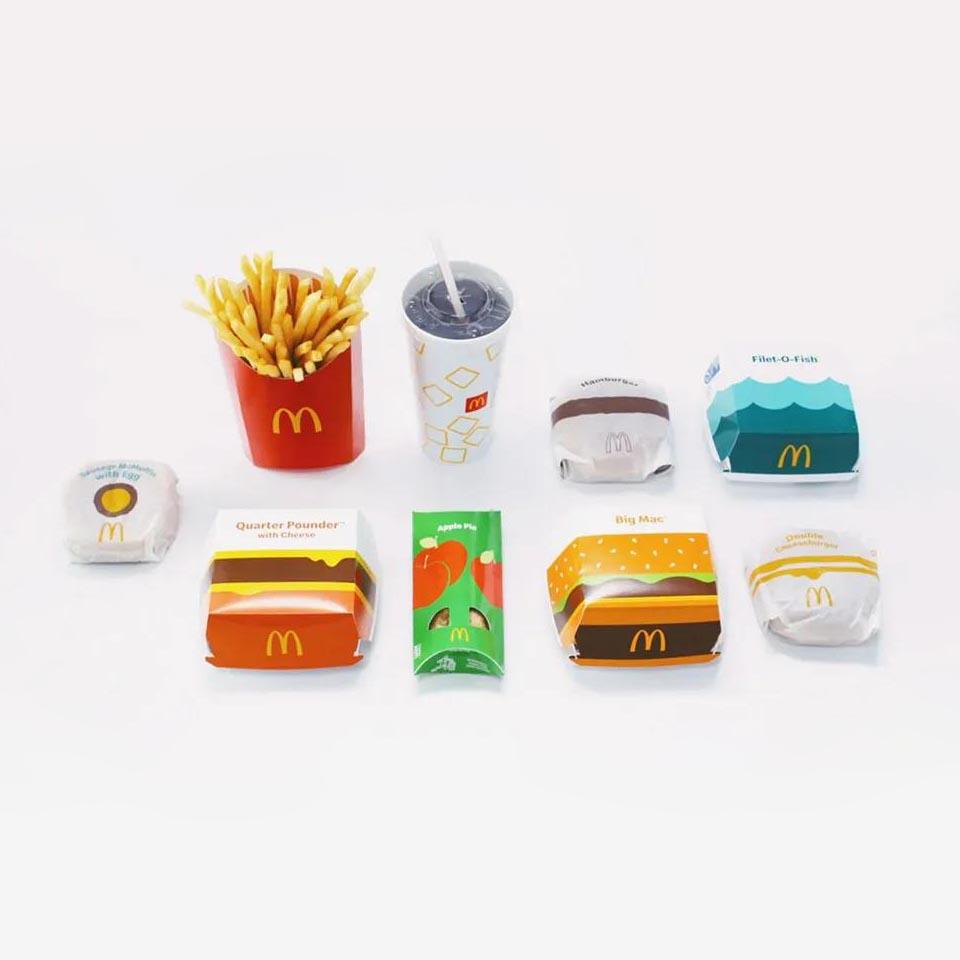 麦当劳更新包装形象